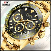 Tevise New Men Mechanical Watches Automatic Date wristwarch Fashion Clock Male Role Sport Gold Watch Relogio Masculino