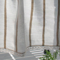 Curtain Burlap Curtains Lace Curtains Cafe Curtains Linen Curtains Kitchen Curtains Shabby Chic Curtains Panels