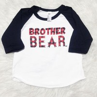 "Raglan ""Brother Bear"" Plaid Ink"