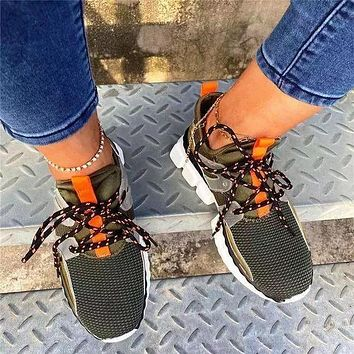 NEW Round Toe Low-Cut Upper Lace-Up Sneakers