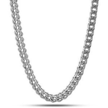 6mm White Gold Stainless Steel Franco Chain