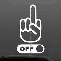 Fck Off Middle Finger Funny Bumper Sticker Vinyl Decal Car Truck JDM Dope ill GM