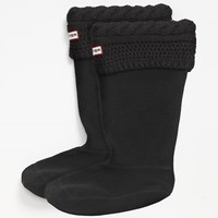 Women's Hunter 'Moss Cable' Tall Cuff Welly Socks