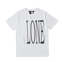 2019 New Summer VLONE Classic Letter Printing Reflective Art Personality White Black T-shirt Men Women O-Neck