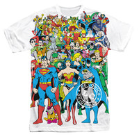 Justice League Original Universe Sublimation Mens T-Shirt