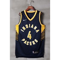 Indiana Pacers #4 Victor Oladipo Navy Swingman Jersey