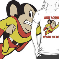 Mighty Mouse - Here I Come To Save The Day T Shirt, Hoodies and more