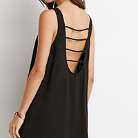 Laddered-Back Mini Dress