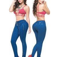 Royal Blue Booty Shaping Jeans