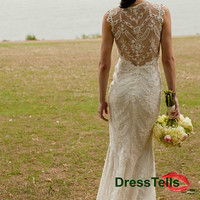 Lace Wedding Dress - backless Ivory wedding dresses / Dresses for Wedding / Ivory Bridal Dress / Wedding Gown