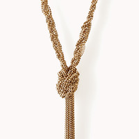 Knotted Braided Chain Necklace