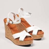 AEO Strappy Wedge Sandal | American Eagle Outfitters