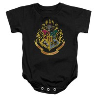 Harry Potter - Hogwarts Crest Infant Snapsuit Officially Licensed Baby Clothing