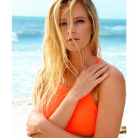 Tangy Orange Elena Top by Surf Style - Surf Style - Brands