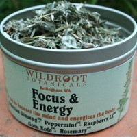 Focus and Energy Tea by wildroot on Etsy