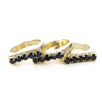 Sole Society Set Of Three Stackable Stone Rings