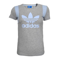 """""""Adidas"""" Women Sports Casual Clover Letter Print Multicolor Round Neck Short Sleeve T-shirt Tops"""