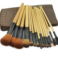 Regina 15pcs snakeprint make up brush set