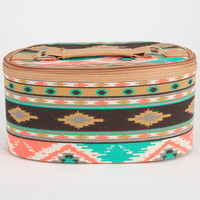 Southwest Print Cosmetic Bag Turquoise One Size For Women 23097424101