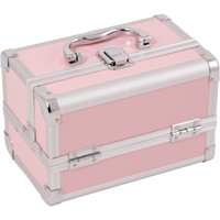Pink, High Quality Cosmetic Case With Mirror