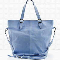 Out from Under Leather Shoulder Bag in Blue - Urban Outfitters