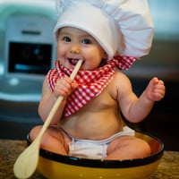 Chef Hats with scarf by Heartfeltcostumes on Etsy