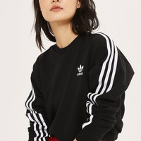 3 Stripe Cropped Sweatshirt by Adidas Originals - Tops - Clothing
