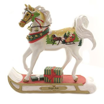 Trail Of Painted Ponies SLEIGH RIDE Polyresin Christmas Horse Bells 6004265Le