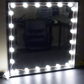 Bulb Series Makeup mirror LED light package with dimmer 9ft in length