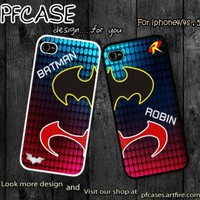 Batman and Robin Hero at the night Case For Iphone 45Samsung S234 by pfcases12 on Zibbet