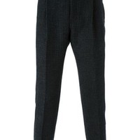Sacai Striped Straight Leg Trousers - Barrow - Farfetch.com