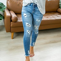 KanCan Julia Patched Jeans - Regular and Plus