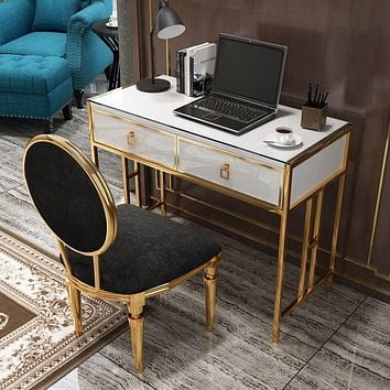 Modern Stylish Rectangle Computer Desk with Drawers