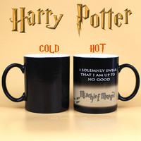 Harry Potter Mug Color Changing Cup,Mischief Managed /Platform 9 and 3/4  Magic Coffee Cup mug hwd