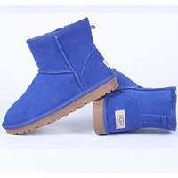 "shosouvenir : ""UGG"" Women male Fashion Wool Snow Boots Yellow"