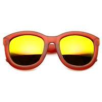 Crazy Frost Frame Mirrored Lens Oversize Sunglasses 8946