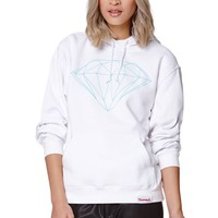 Diamond Supply Co Diamond Blue Pullover Hoodie - Womens Hoodie - White