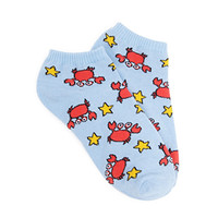 Crab Pattern Ankle Socks
