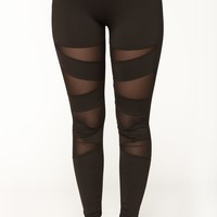 Double Trouble Active Leggings - Black
