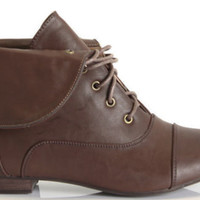 WOMENS LADIES FLAT LOW HEEL LACE UP CHELSEA BIKER ARMY ANKLE BOOTS SHOES SIZE