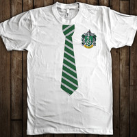 Slytherin Harry Potter Tie and Crest T-Shirt Hogwarts Quidditch
