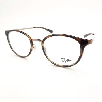 Ray Ban RB 6372M 2732 50mm Brushed Brown Havana Authentic Frames