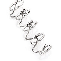 Eddie Borgo - Thin Five-Finger Chained Band Ring - Saks Fifth Avenue Mobile