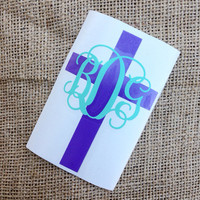 Cross Decal Cross Initial Car Decal Monogram Decal Monogram Vinyl Faith Christian Monogram Gift Monogram sticker Car sticker Car Initials