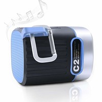 Bluetooth Speaker- Wireless Portable Outdoor Stereo Speaker with HD Audio, 3 Modes LED Light, Charger Power Bank and SOS Alarm, Best for Camping, Hiking, Biking and Travel