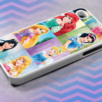 All Princes Disney , For iPhone 4/4s/5/5c/5s,iPod 4/5,Samsung S2/S3/S4/S3,S4 Mini,Htc One/X Case Rubber/Plastic