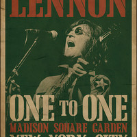 The Beatles John Lennon One To One Concert Poster