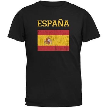 World Cup Distressed Flag Espana Black Youth T-Shirt