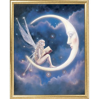 Storyteller Framed Print - New Age, Spiritual Gifts, Yoga, Wicca, Gothic, Reiki, Celtic, Crystal, Tarot at Pyramid Collection