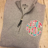 Lilly Pullitzer inspired 1/4 Zip Pullover
